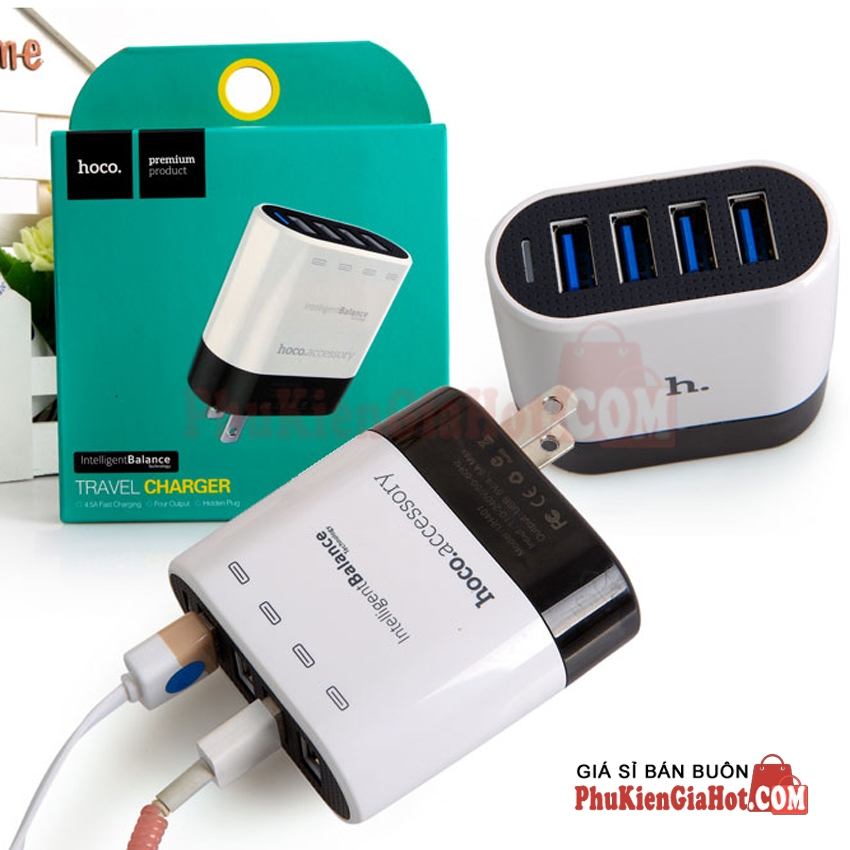 sac-nhanh-chinh-hang-hoco-4-cong-usb-uh401-smart-charger-4usb-white-1